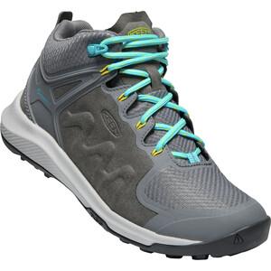 Keen Explr Mid WP Shoes Women grå/turkos grå/turkos