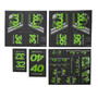 Fox Racing Shox AM Heritage Sticker Set für Federgabel und Dämpfer grün/schwarz