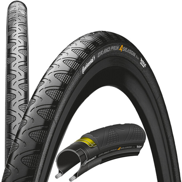 "Continental Grand Prix 4-Season Faltreifen 28"" DuraSkin Black Edition black"