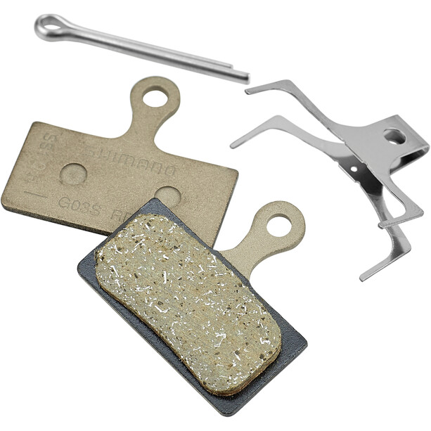 Shimano G03S Resin Disc Brake Pads for XT/SLX/Alfine grey
