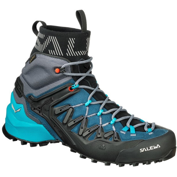 SALEWA Wildfire Edge GTX Mid Shoes Dam poseidon/grisaille