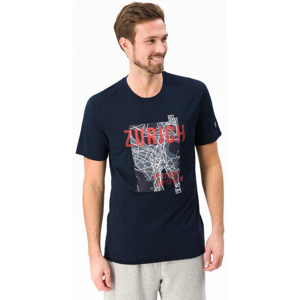 super.natural Graphic T-Shirt Herren navy blazer 3d/zurich print