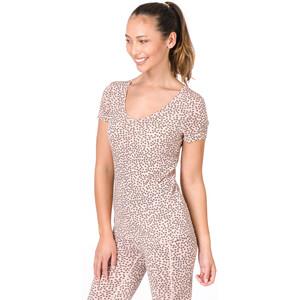 super.natural Base Print 140 V-Ausschnitt T-Shirt Damen blush/blush stars blush/blush stars
