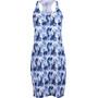 super.natural Essential Racer Printed Kleid Damen fresh white/leaves camu print