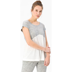 super.natural Motion Slash Neck T-Shirt Damen ash melange/fresh white ash melange/fresh white