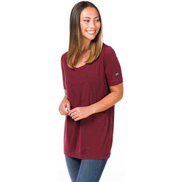super.natural Oversize T-Shirt Damen pomegranate