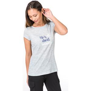 super.natural Digital Graphic 140 T-Shirt Damen denim bleach melange/balance print denim bleach melange/balance print