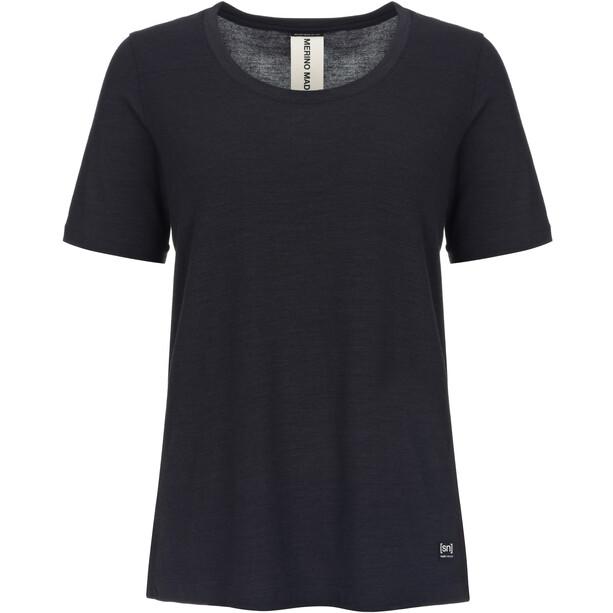 super.natural Panel T-Shirt Damen jet black