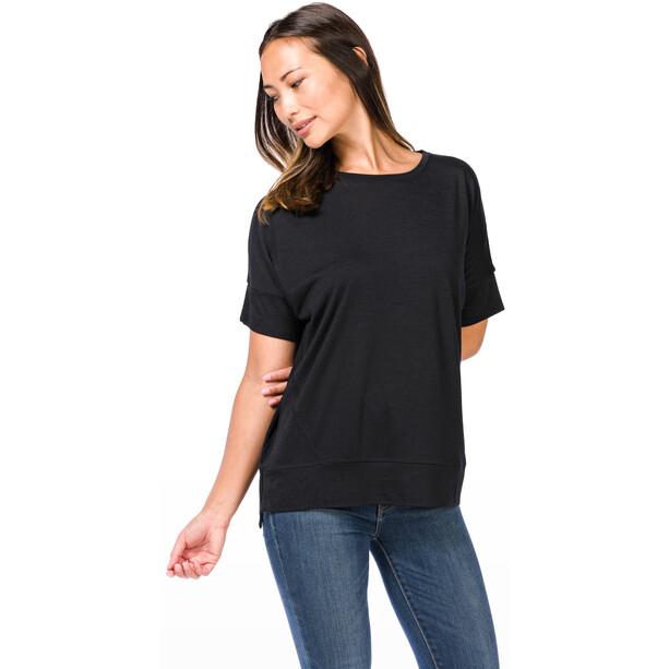super.natural Slash Neck T-Shirt Damen jet black
