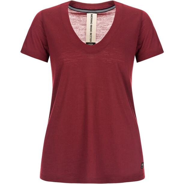 super.natural City T-Shirt Damen pomegranate