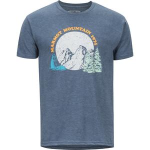 Marmot Boback Camiseta Manga Corta Hombre, azul azul