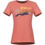 Marmot Esterel Lyhythihainen T-paita Naiset, punainen