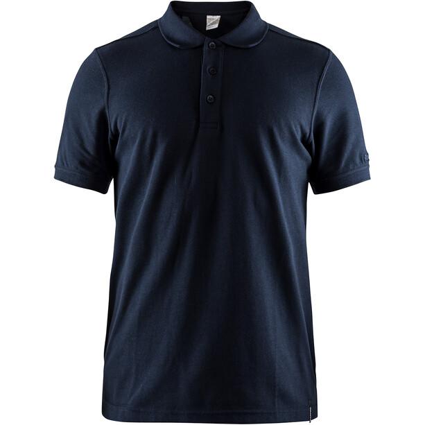 Craft Casual Pique Poloshirt Herren dark navy