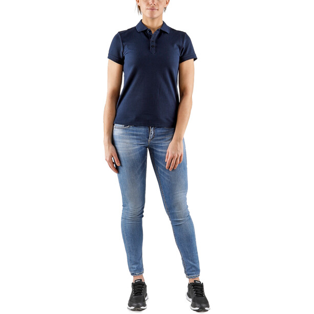 Craft Casual Pique Poloshirt Damen blau