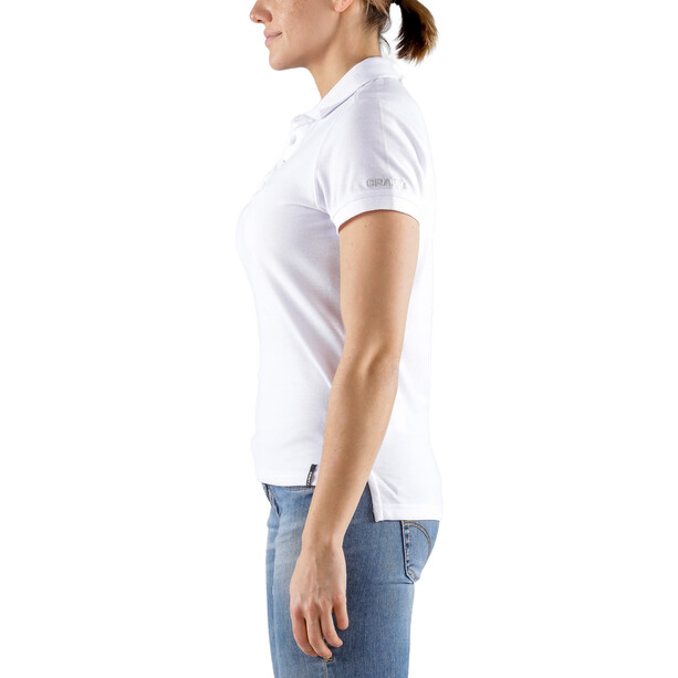 Craft Casual Pique Polo Femme, blanc