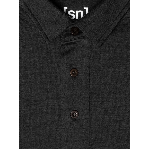 super.natural Essential Polo Herren jet black melange