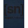 super.natural Essential I.D. T-Shirt Herren blue iris melange/jet black logo