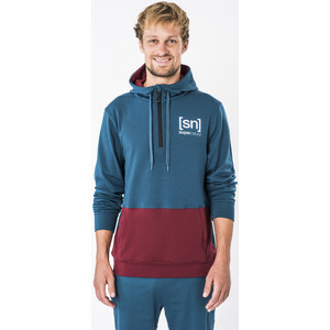 super.natural Movement Half Zip Hoodie Herren legion blue/cabernet legion blue/cabernet