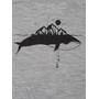 super.natural Graphic T-Shirt Whale Print Herren ash melange/jet black