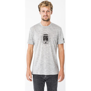super.natural Graphic T-Shirt Preserving M Print Herren ash melange/jet black ash melange/jet black