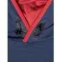 super.natural Alpine Hooded Langarm Kapuzenshirt Herren blue iris/red dhalia