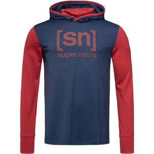 super.natural Alpine Hooded Langarm Kapuzenshirt Herren blue iris/red dhalia blue iris/red dhalia