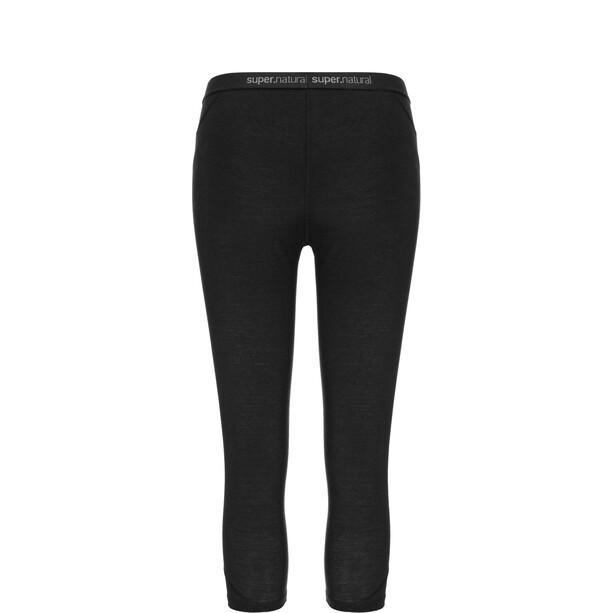 super.natural Base 175 Leggings 3/4 Femme, noir