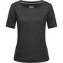 super.natural Essential Scoop T-paita Naiset, musta