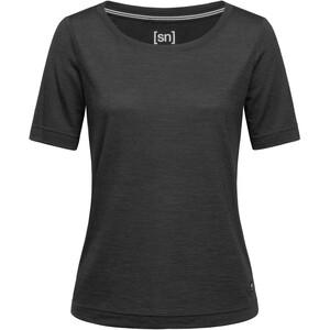 super.natural Essential Scoop T-Shirt Damen jet black melange jet black melange