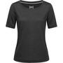 super.natural Essential Scoop T-Shirt Damen jet black melange