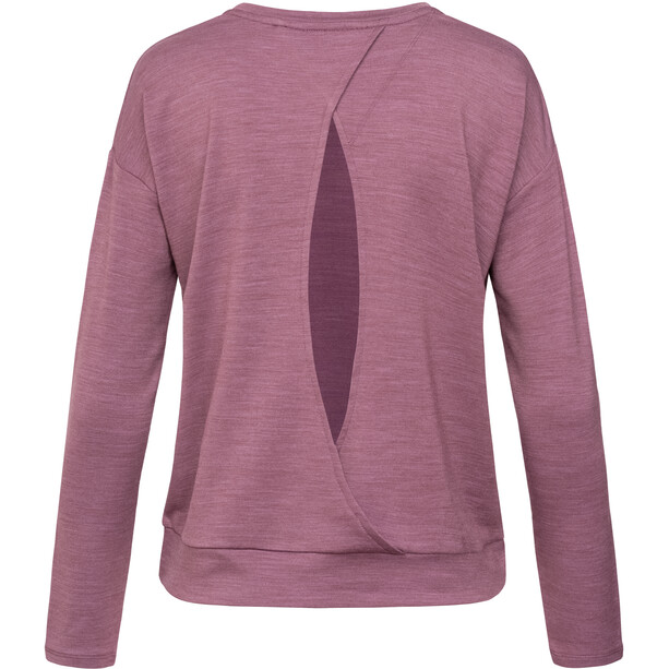 super.natural Jonser Sweater Damen berry conserve melange