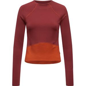 super.natural Super Crop Sweater Damen cabernet/bossa nova cabernet/bossa nova
