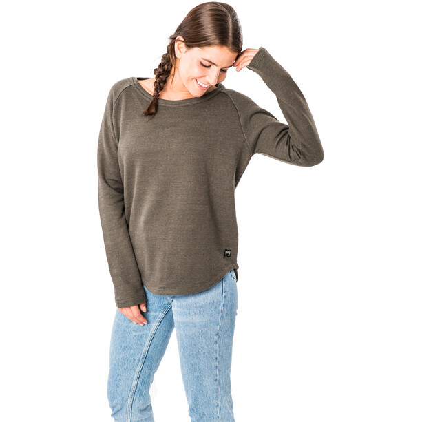 super.natural Knit Sweater Damen killer khaki melange