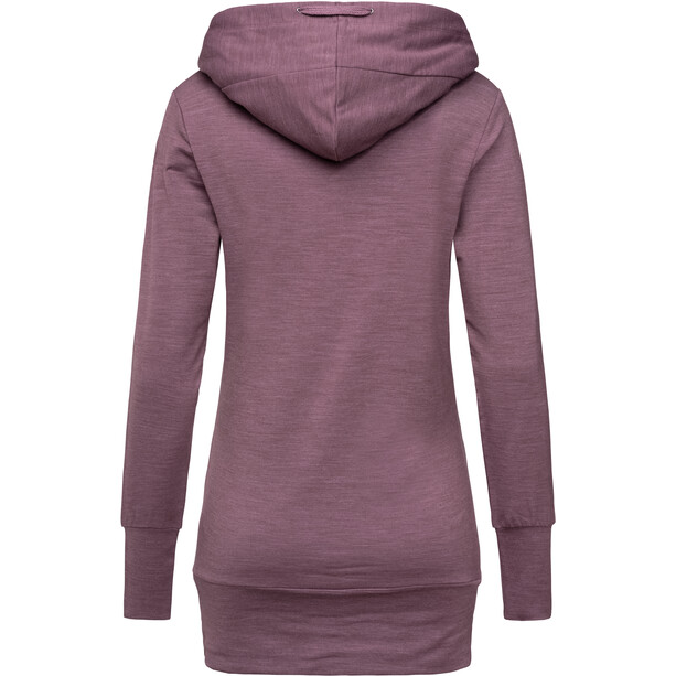 super.natural Essential Tunnel Hoodie Damen berry conserve melange