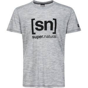 super.natural Essential I.D. Tee Herr ash melange/jet black logo ash melange/jet black logo