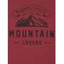super.natural Graphic Tee Mountain Lovers Herr cabernet melange/vapor grey