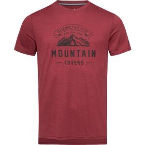 super.natural Graphic Tee Mountain Lovers Herr cabernet melange/vapor grey cabernet melange/vapor grey