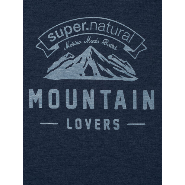 super.natural Graphic Tee Mountain Lovers Herr blue iris melange/fresh white