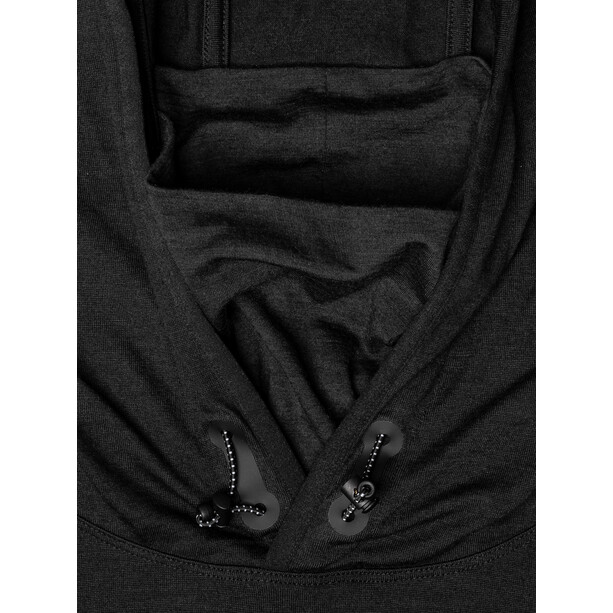 super.natural Alpine Hooded LS Herr jet black melange/vapor grey