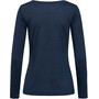 super.natural Essential I.D. LS Shirt Women blue iris melange/jet black logo