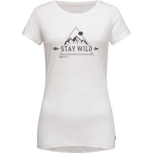 super.natural Print Tee Stay Wild Dam fresh white/jet black fresh white/jet black