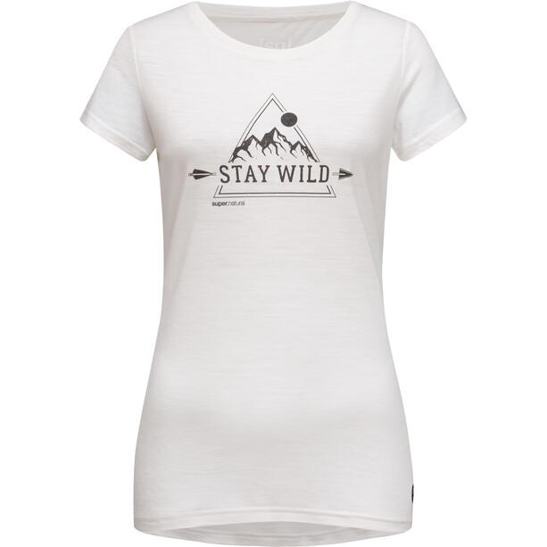 super.natural Print Tee Stay Wild Dam vit