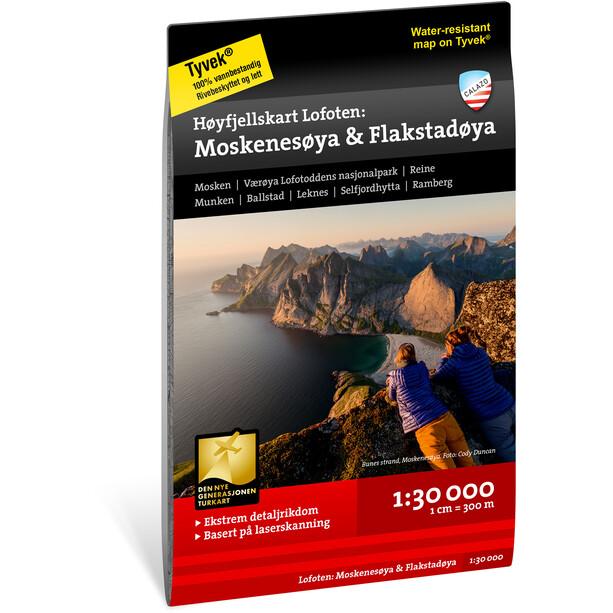 Calazo Høyfjellskart Lofoten: Moskenesøya & Flakstadøya 1:30.000