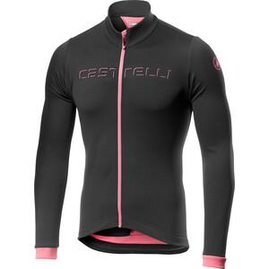 Castelli Fondo Full-Zip Langarm Trikot Herren dark gray/giro pink dark gray/giro pink