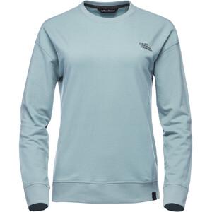 Black Diamond Ridge Logo Rundhals-Sweatshirt Damen blue ash blue ash