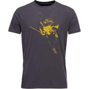 Black Diamond Faceshot Kurzarm T-Shirt Herren carbon carbon
