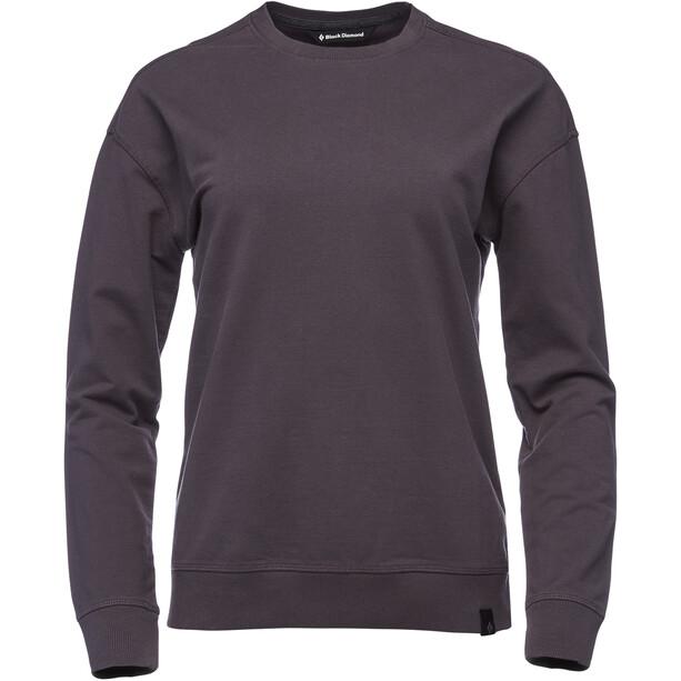 Black Diamond Basis Rundhals-Sweatshirt Damen carbon