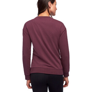 Black Diamond Basis Rundhals-Sweatshirt Damen plum plum