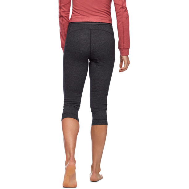 Black Diamond Solution 150 Merino Baselayer 3/4 Hose Damen black