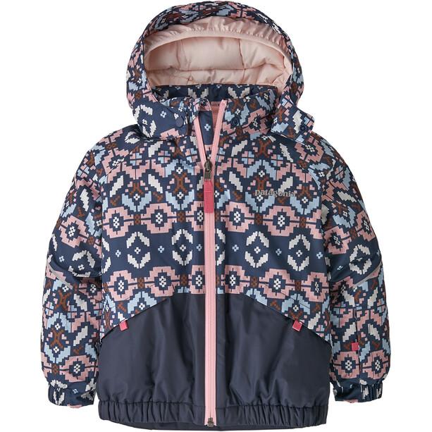 Patagonia Snow Pile Jacket Baby Barn tundra cluster texture/rosebud pink